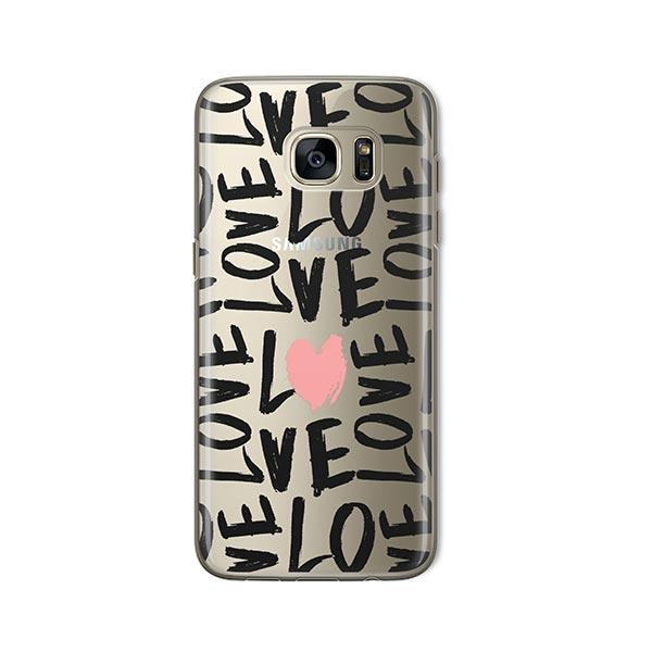 Spread The Love - Samsung Galaxy S7 Case Clear