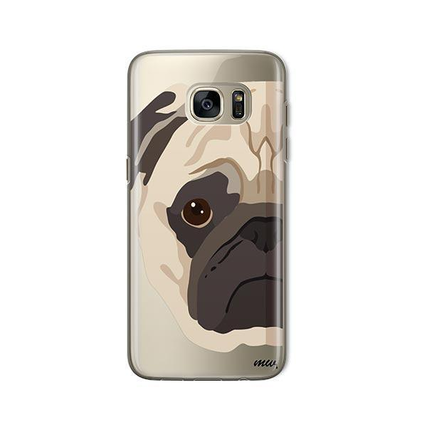 The Pug Case -  Samsung Galaxy S7  Clear Case