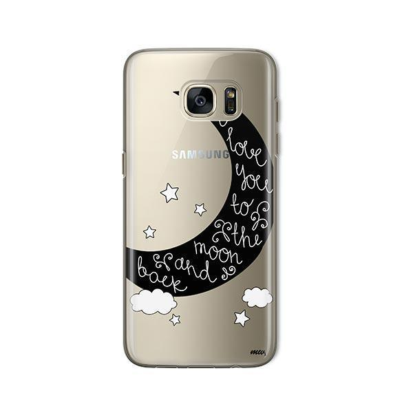 To The Moon and Back - Samsung Galaxy S7 Case Clear