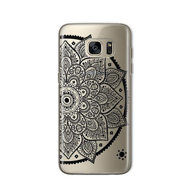 Black Henna Lotus Mandala - Samsung Clear Case