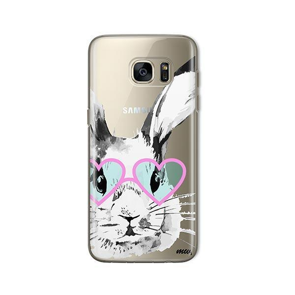 Beverly Hills Bunny -  Samsung Galaxy S7 Case Clear