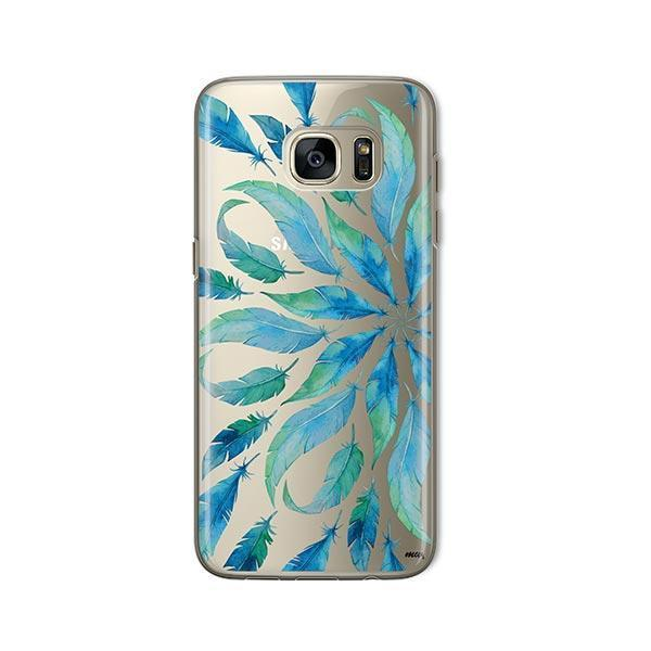 Burst of Feathers - Samsung Galaxy S7 Case Clear