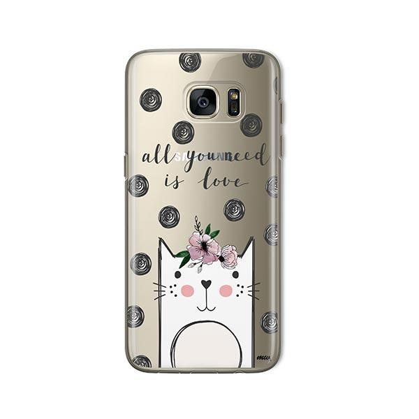 Cat Love -  Samsung Galaxy S7  Clear Case