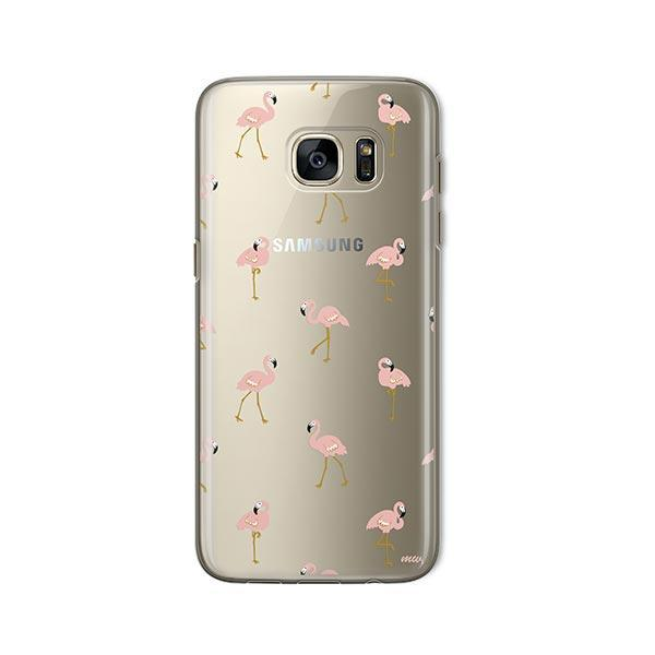 Chillin Flamingo -  Samsung Galaxy S7 Case Clear