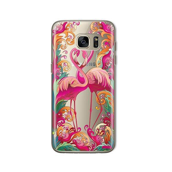 Flaming Flamingo -  Samsung Galaxy S7 Case Clear