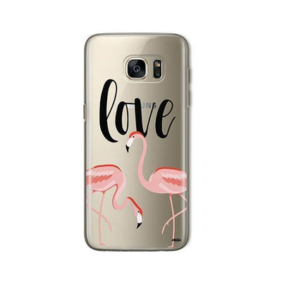 Flaming Love - Samsung Clear Case