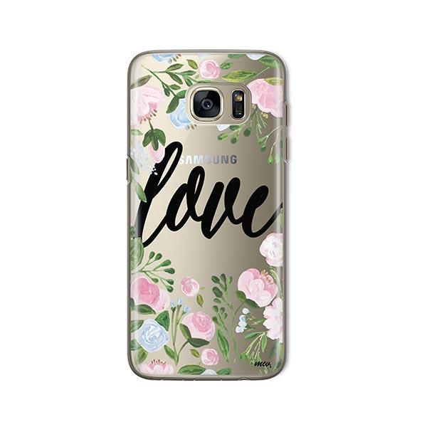 Floral Love - Samsung Galaxy S7 Case Clear