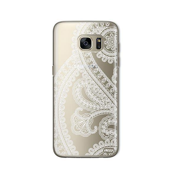 Henna Full Paisley - Samsung Galaxy S7 Case Clear