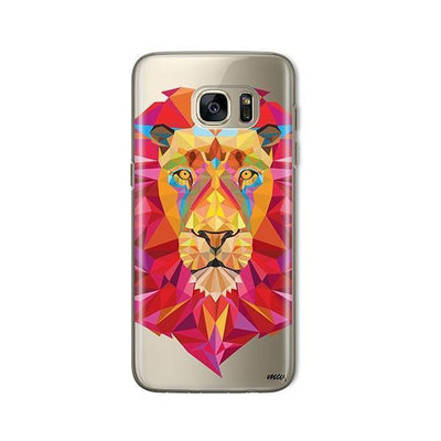 Geometric Lion - Samsung Clear Case