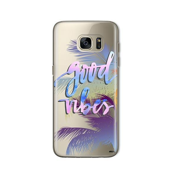 Good Vibes - Samsung Galaxy S7 Case Clear