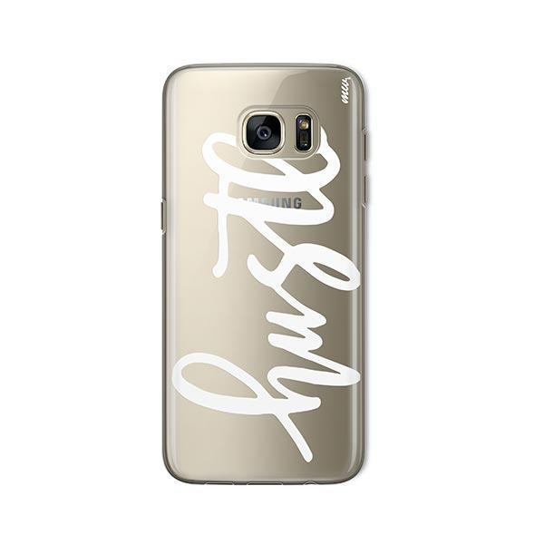Hustle in White - Samsung Galaxy S7 Case Clear