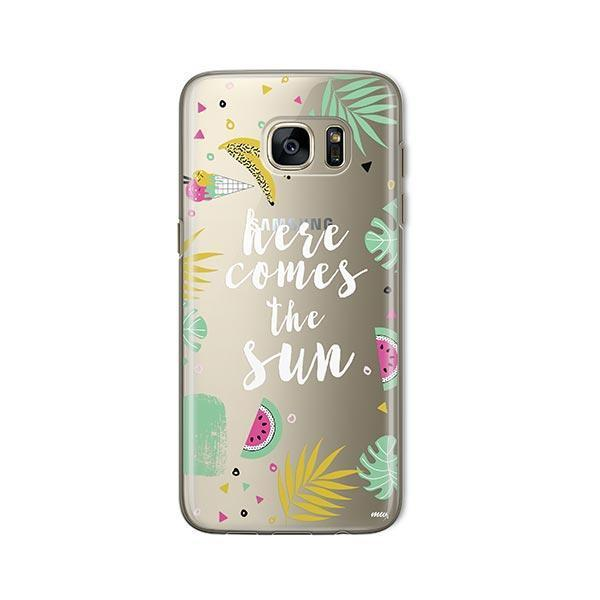 Here Comes The Sun - Samsung Galaxy S7 Case Clear