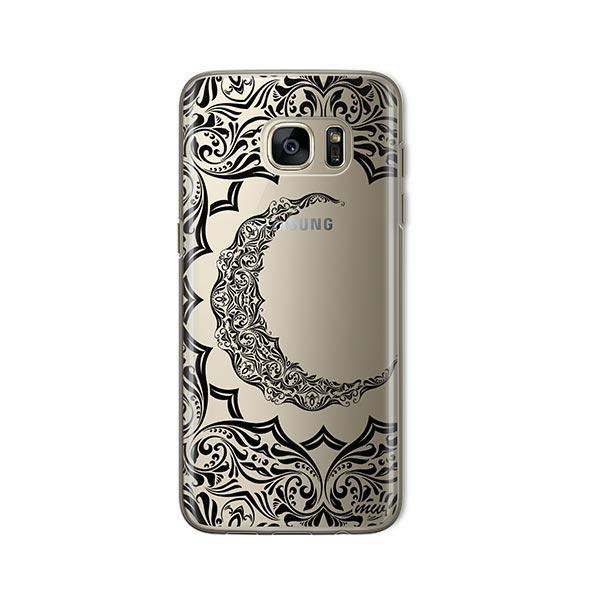 Crescent Moon Henna - Samsung Galaxy S7 Case Clear