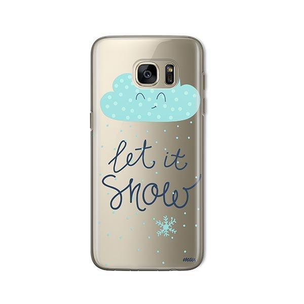 Let It Snow - Samsung Galaxy S7 Case Clear