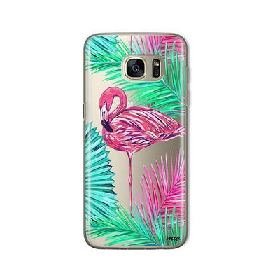 Neon Flamingo - Samsung Clear Case