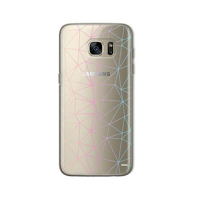 Ombre Geo - Samsung Clear Case