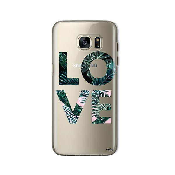 Palm Tree Love - Samsung Galaxy S7 Case Clear
