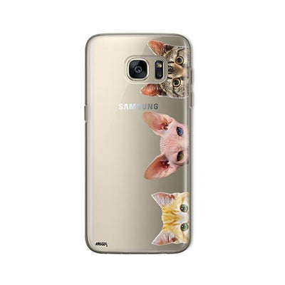 Peeking Cats - Samsung Clear Case