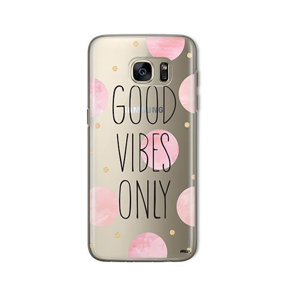 Good Vibes Only - Samsung Galaxy S7 Case Clear