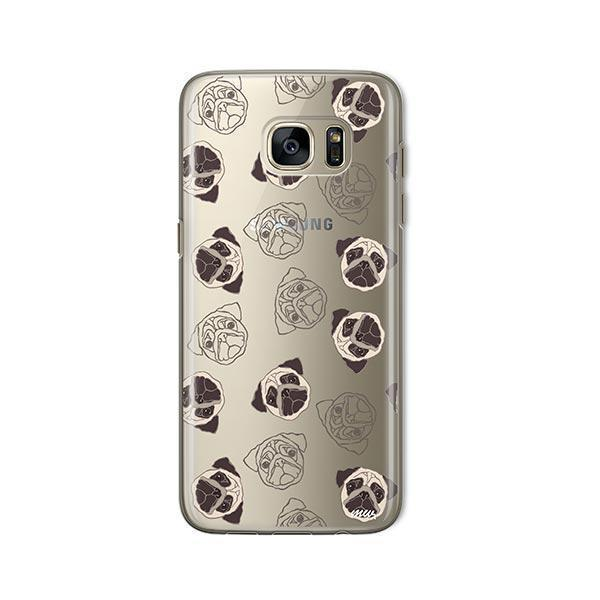 Pug Overload -  Samsung Galaxy S7  Clear Case