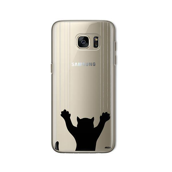 Scratchy Cat -  Samsung Galaxy S7  Clear Case