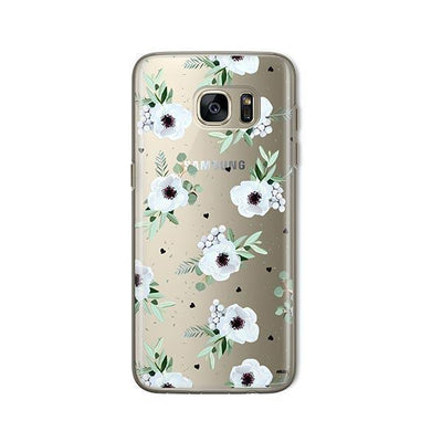 White Blossom - Samsung Clear Case