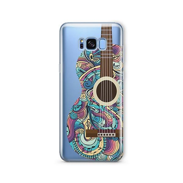Henna Abstract Guitar - Samsung Galaxy S7 Edge Case Clear