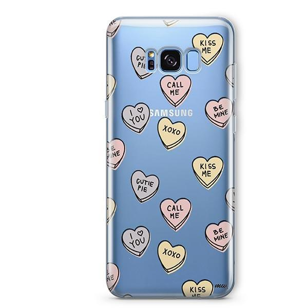 Candy Hearts - Samsung Galaxy S7 Edge Case Clear