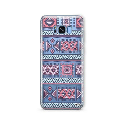 Colored Aztec - Samsung Clear Case