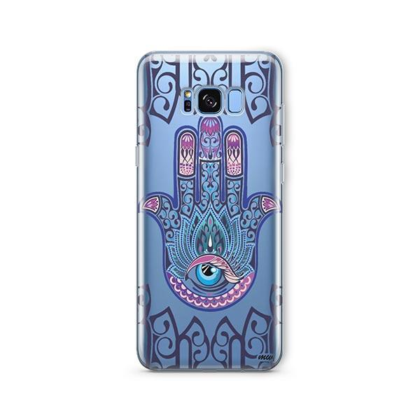Colored Hamsa - Samsung Galaxy S7 Edge Case Clear