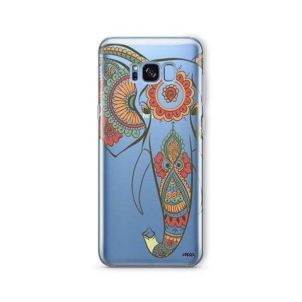Colored Tribal Elephant -  Samsung Galaxy S7 Edge Case Clear