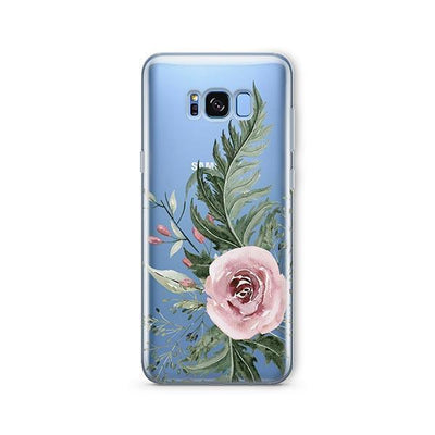 Dusty Pink Rose - Samsung Clear Case
