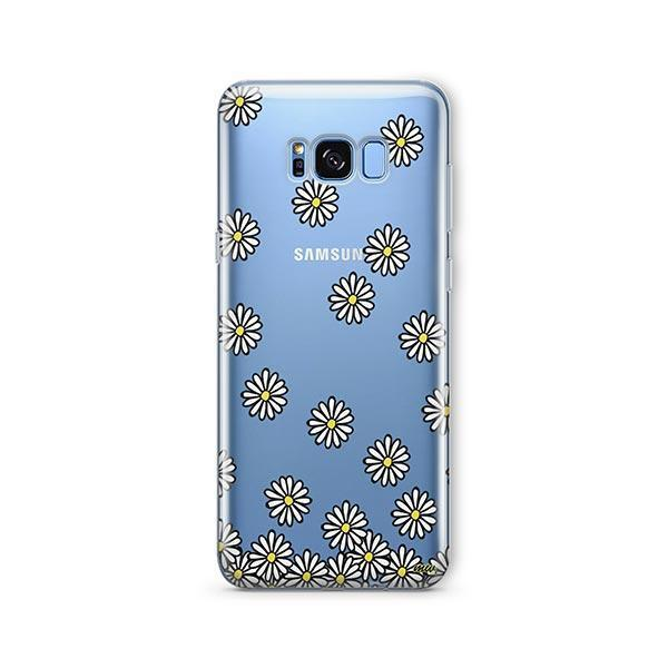 Falling Daisies - Samsung Galaxy S7 Edge Case Clear