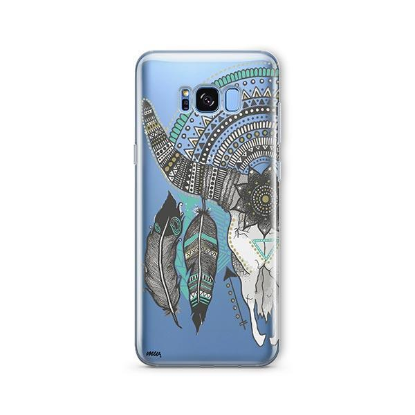 Feathered Mandala Animal Skull - Samsung Galaxy S7 Edge Case Clear