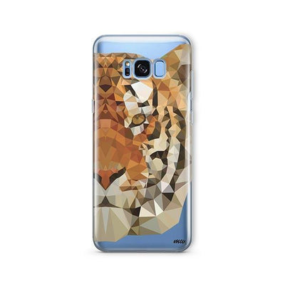 Geometric Tiger - Samsung Clear Case