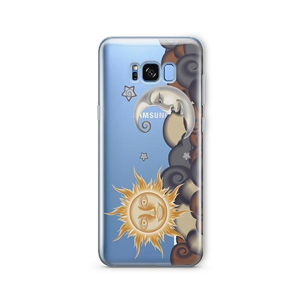 Henna Sun and Moon - Samsung Galaxy S7 Edge Case Clear