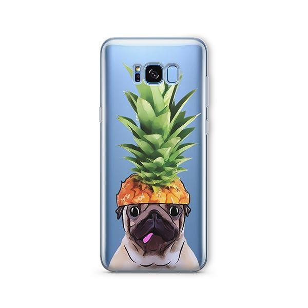 Pineapple Pug -  Samsung Galaxy S8 Clear Case