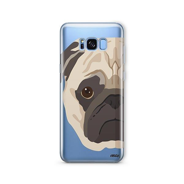 The Pug Case -  Samsung Galaxy S8 Clear Case