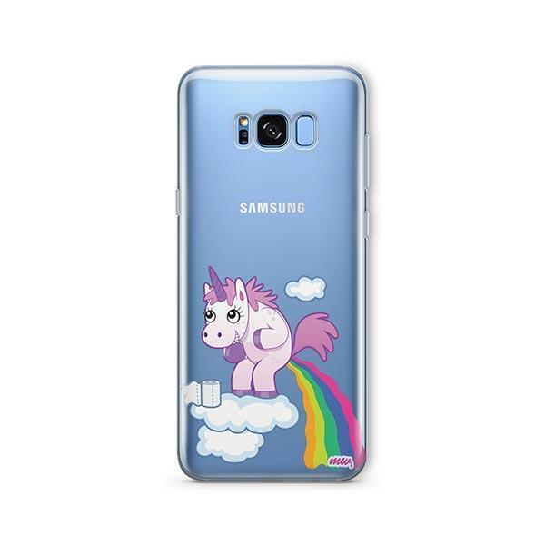 Pooping Unicorn - Samsung Galaxy S7 Edge Case Clear