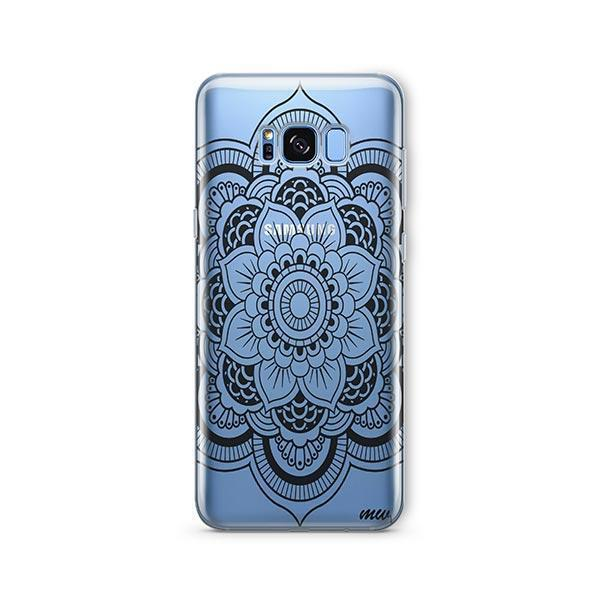 Black Henna Full Mandala - Samsung Galaxy S7 Edge Case Clear