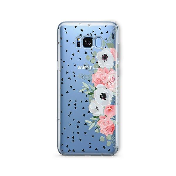 Anemone Rose - Samsung Galaxy S8 Plus Case Clear