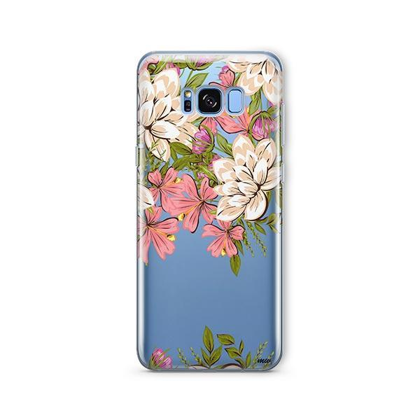 Angela Floral - Samsung Galaxy S7 Edge Case Clear