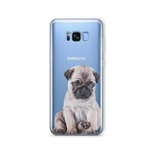 Baby Pug -  Samsung Galaxy S8 Clear Case