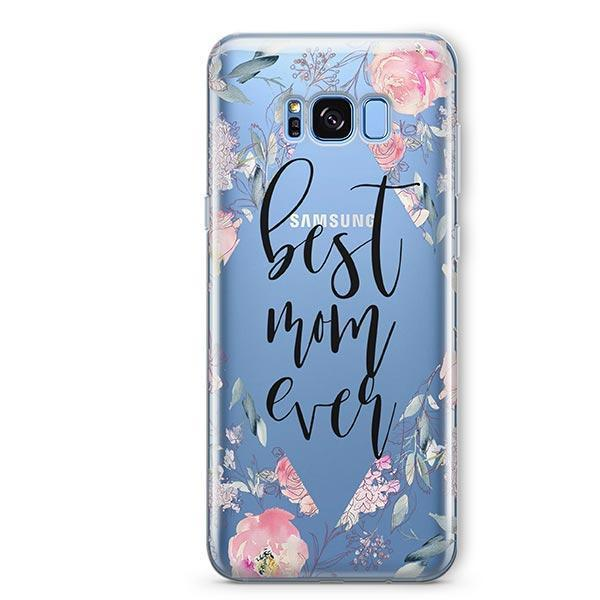 Best Mom Ever Floral - Samsung Galaxy S7 Edge Case Clear