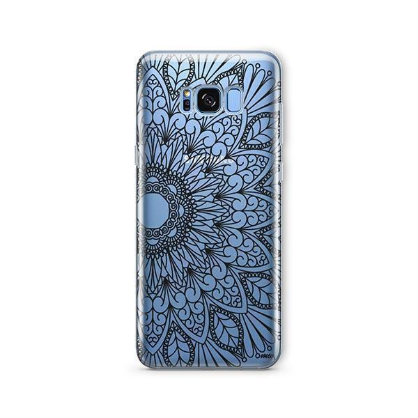 Black Mandala - Samsung Galaxy S7 Edge Case Clear