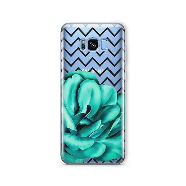 Blue Camelia - Samsung Galaxy S7 Edge Case Clear