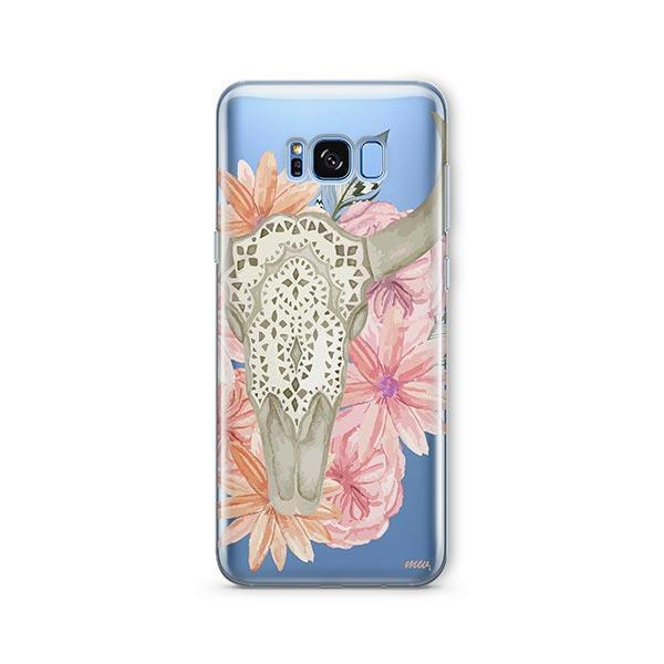 Boho Skull - Samsung Galaxy S7 Edge Case Clear