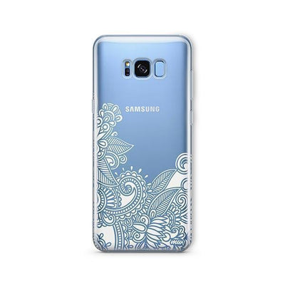 Hennan Bottom Floral Paisley - Samsung Clear Case