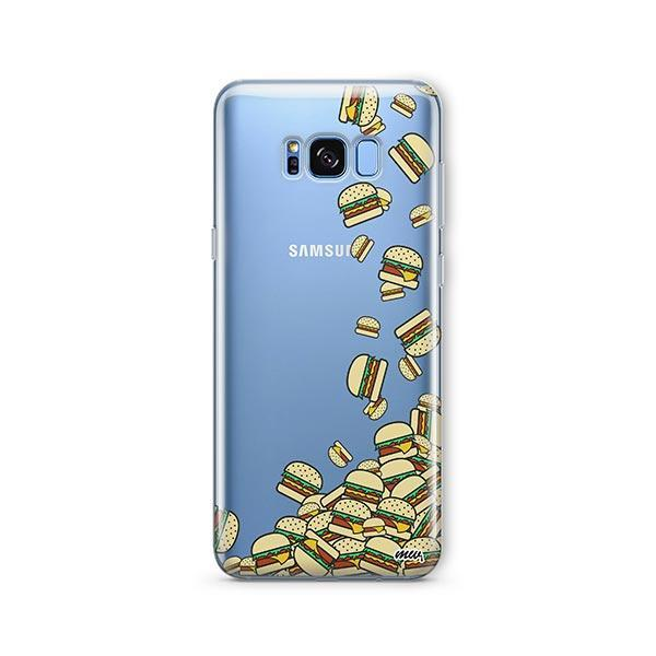 Burger Stuck - Samsung Galaxy S7 Edge Case Clear