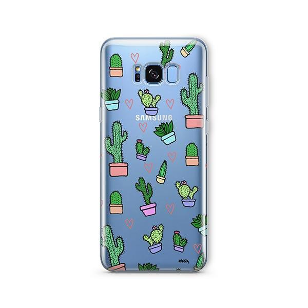 Cactus Love - Samsung Galaxy S8 Case Clear